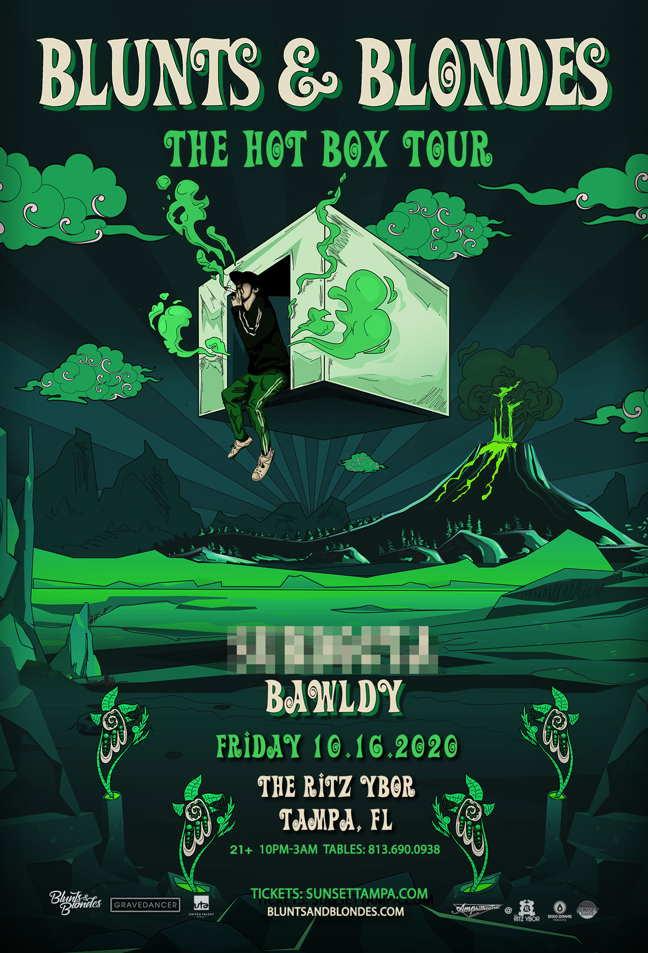Blunts & Blondes – The Hot Box Tour – #POUND Fridays at The RITZ Ybor – 10/16/2020