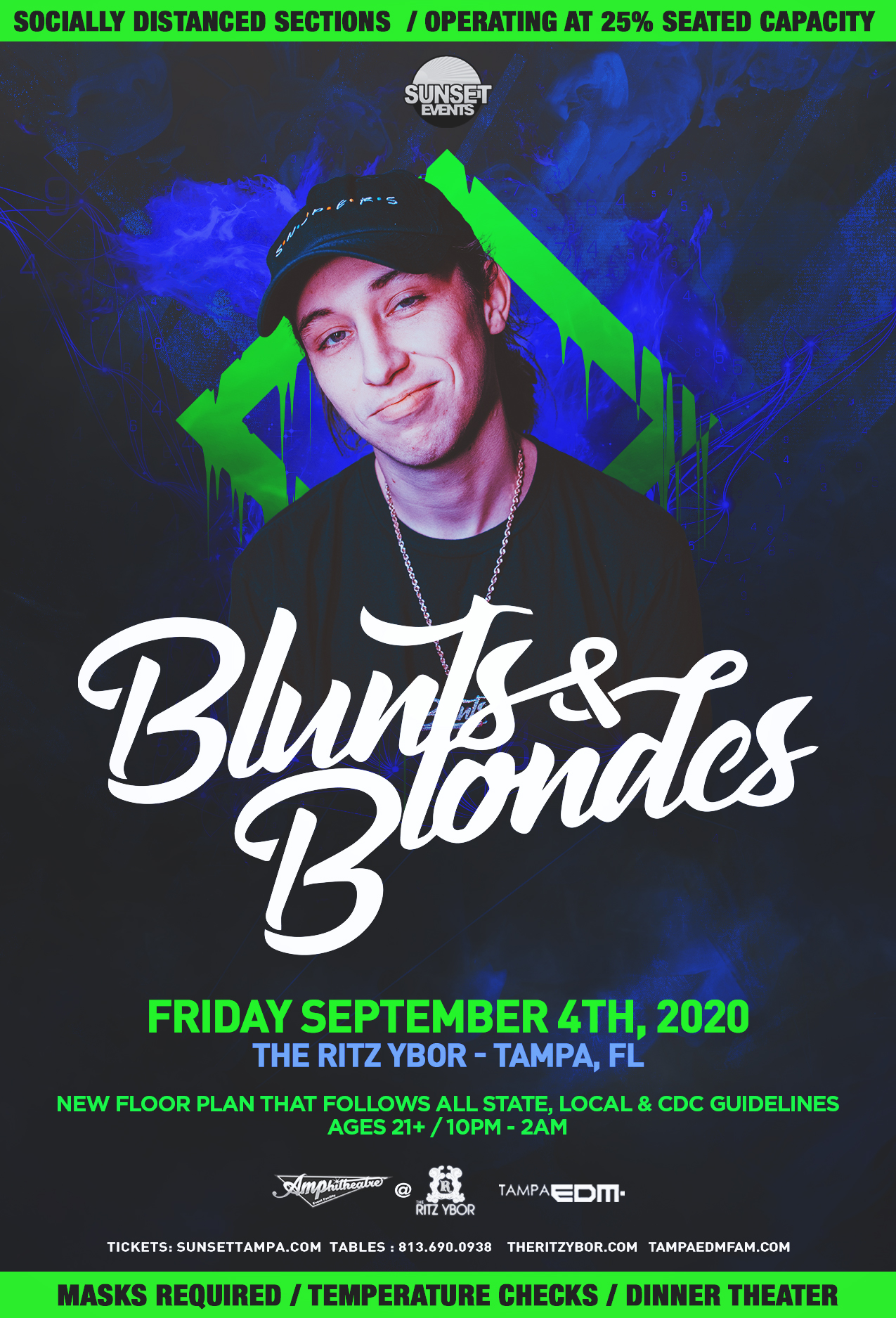 Tampa Bay Sunset Smile Halloween 2020 Blunts & Blondes   Socially Distanced Event   Labor Day Weekend