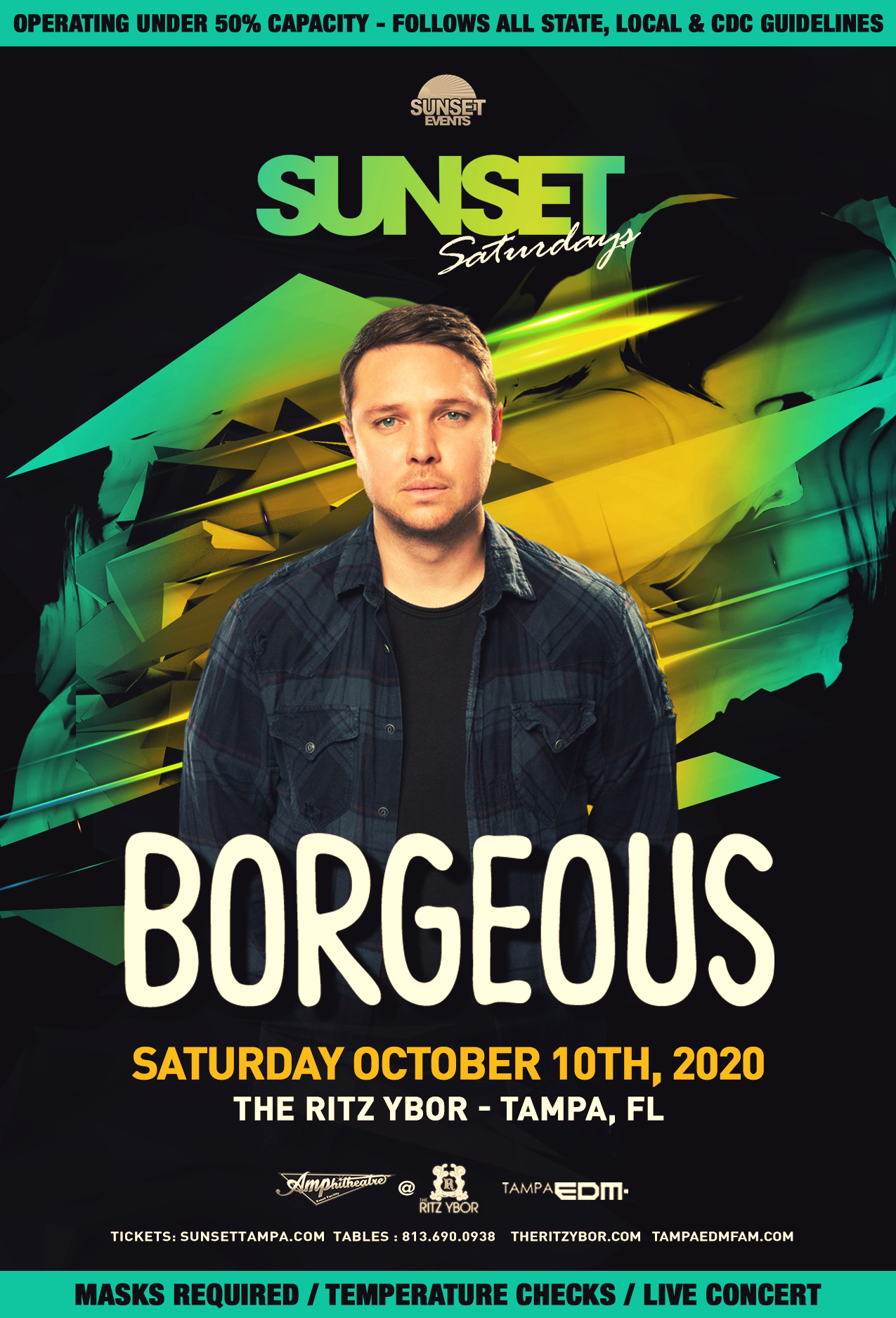 Borgeous for Sunset Saturdays at The RITZ Ybor – 10/10/2020