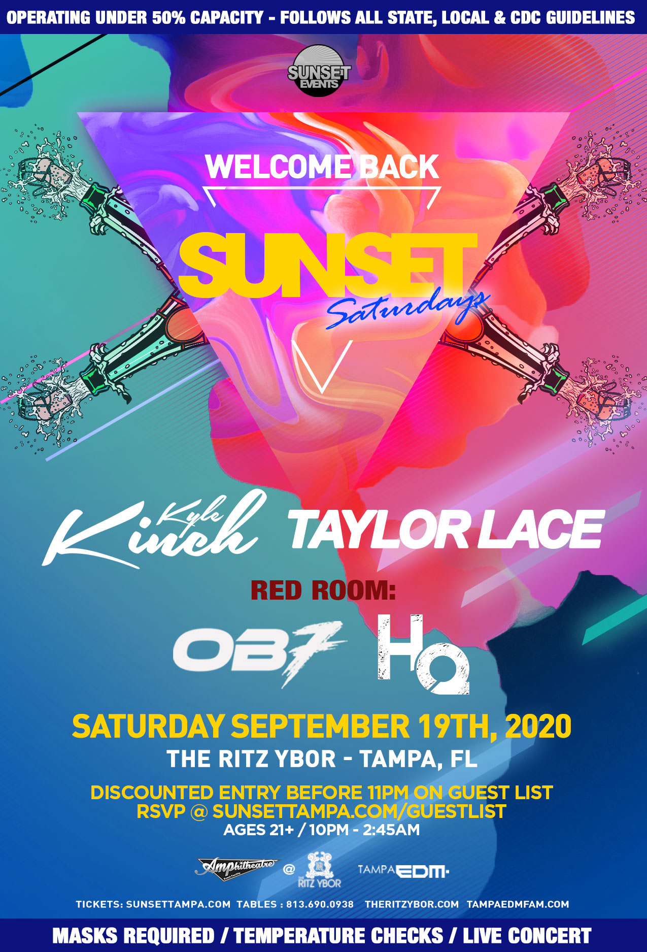 Welcome Back to Sunset Saturdays at The RITZ Ybor – 9/19/2020