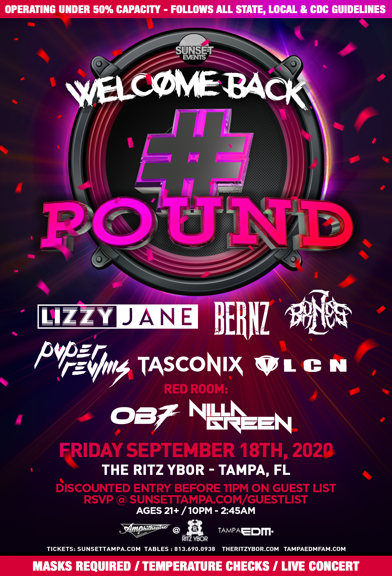 Welcome Back to #POUND Fridays at The RITZ Ybor – 9/18/2020
