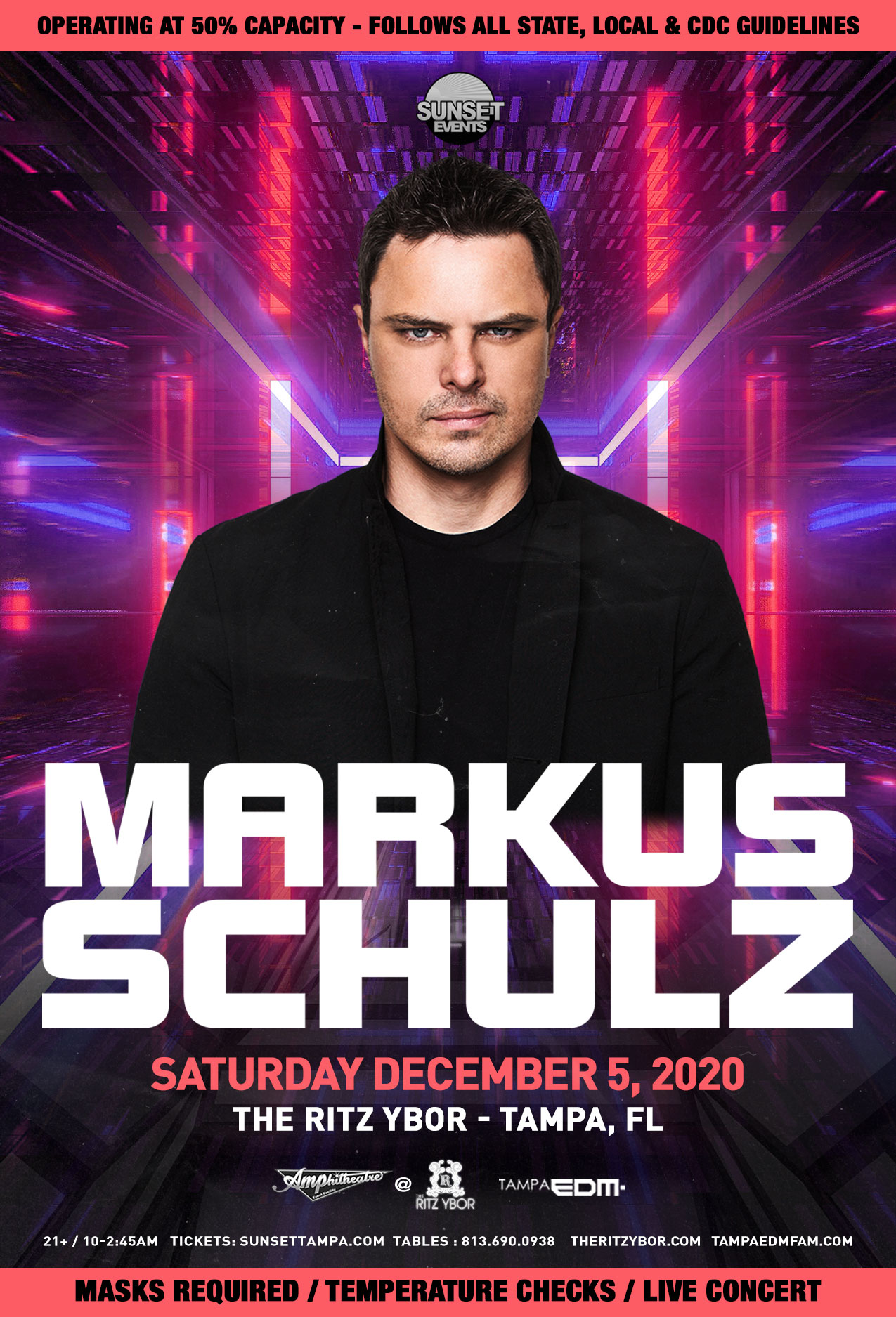 Markus Schulz for Sunset Saturdays at The RITZ Ybor – 12/5/2020
