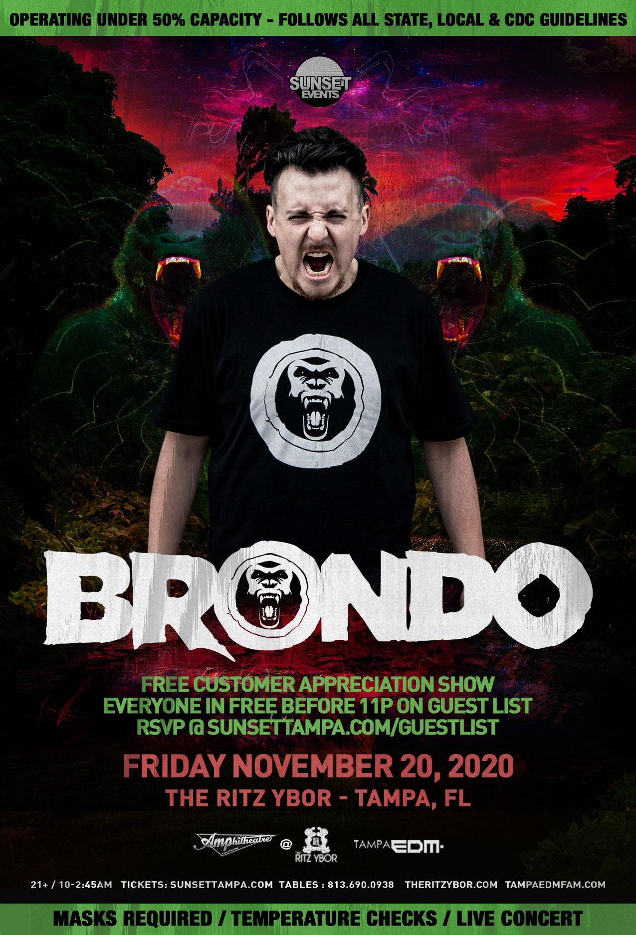 Brondo for #POUND Fridays at The RITZ Ybor – 11/20/2020
