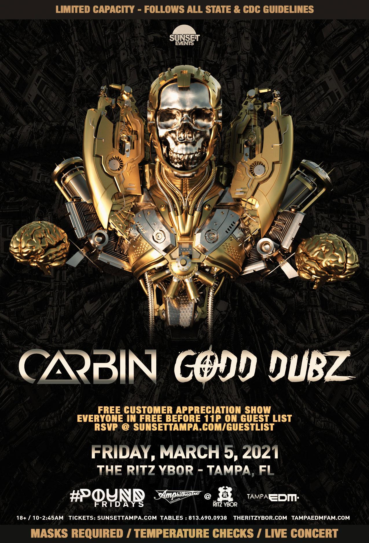 Carbin & Codd Dubz for #POUND Fridays at The RITZ Ybor – 3/5/2021