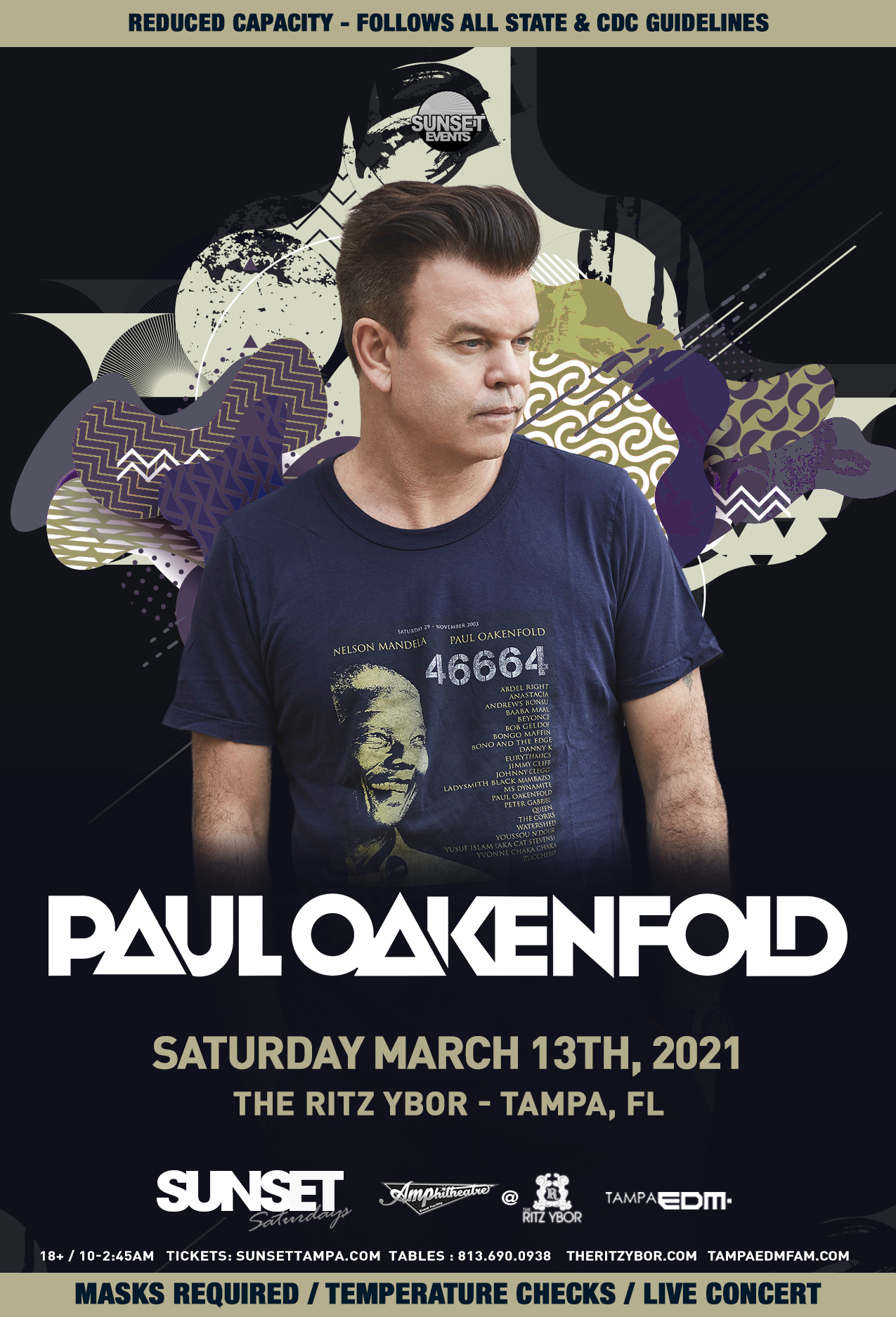 Paul Oakenfold for Sunset Saturdays at The RITZ Ybor – 3/13/2021