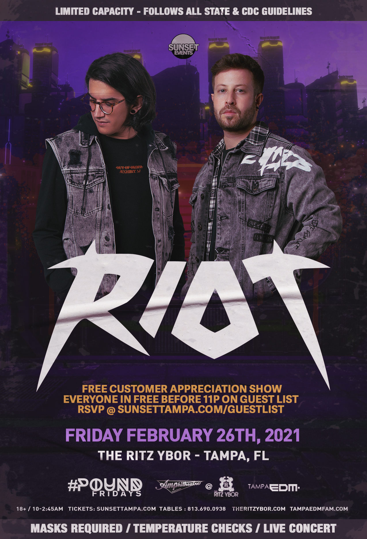 RIOT for #POUND Fridays at The RITZ Ybor – 2/26/2021