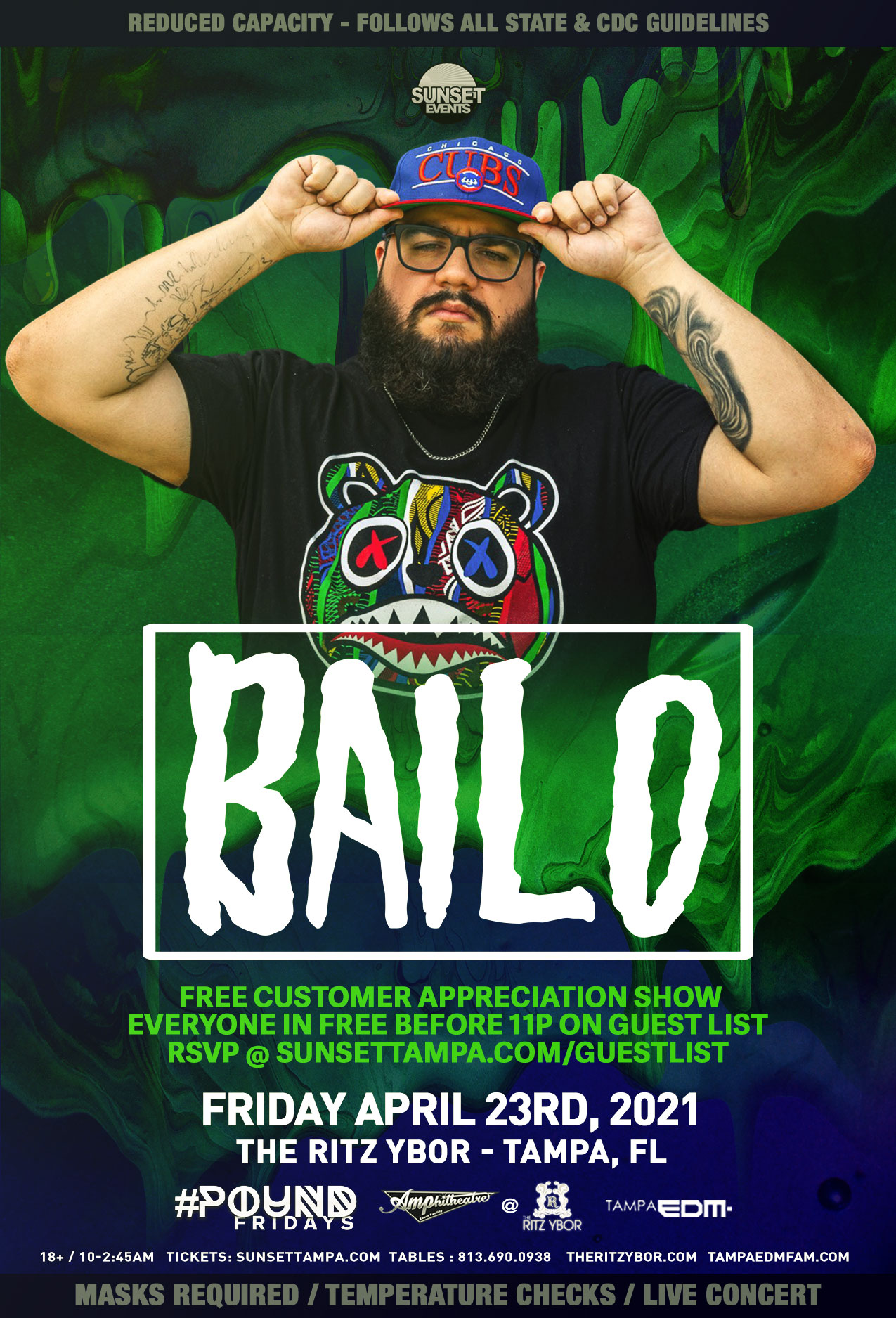Bailo for #POUND Fridays at The RITZ Ybor – 4/23/2021