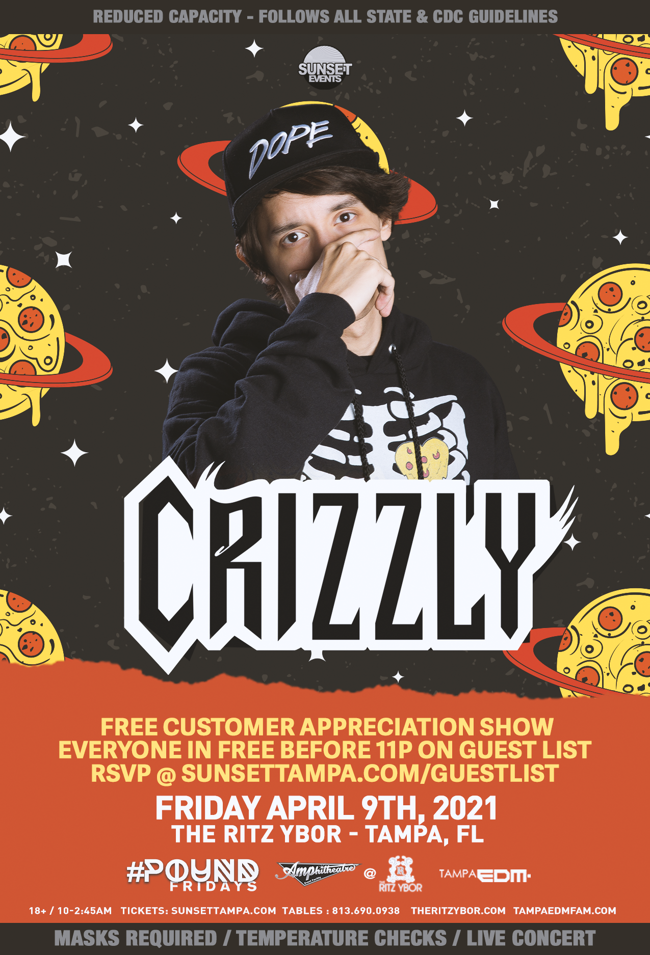Crizzly for #Pound Fridays at The RITZ Ybor – 4/9/2021