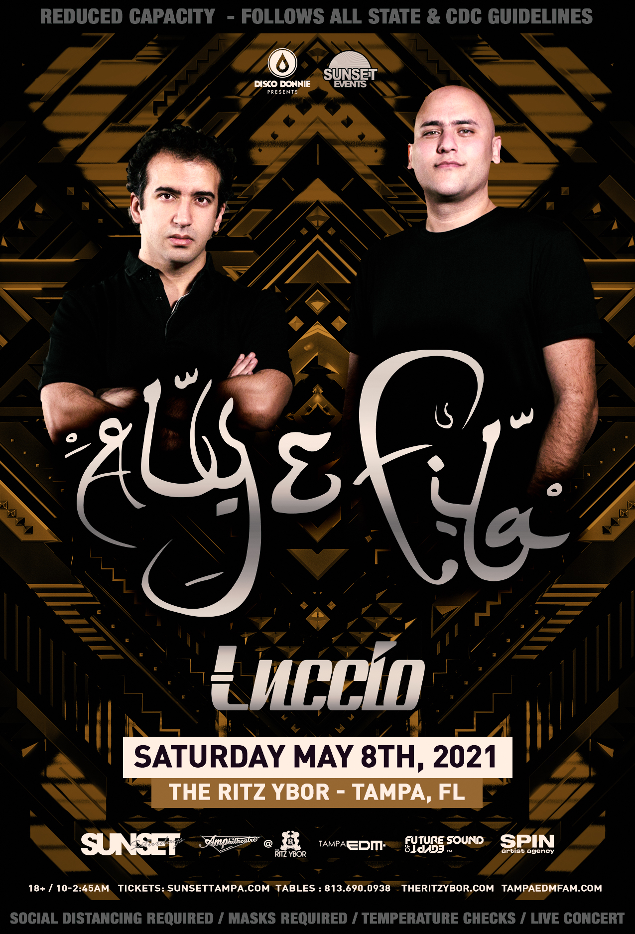 Aly & Fila for Sunset Saturdays at The RITZ Ybor – 5/8/2021